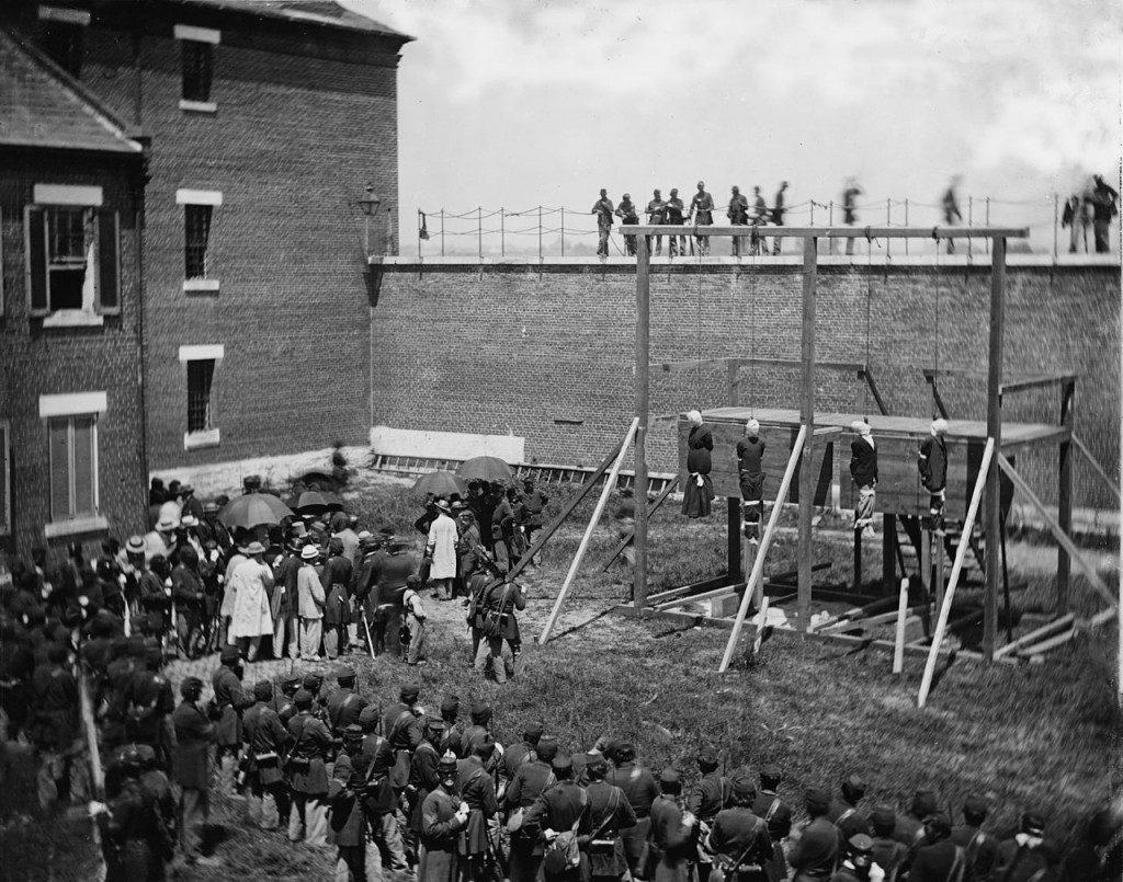 Execution of Lincoln assassins.