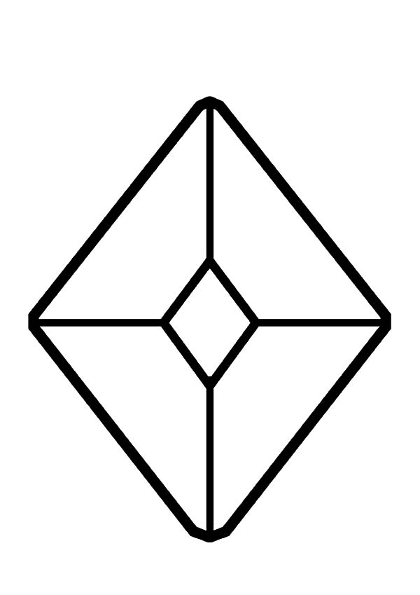 How To Color Jewel Diamond Shape Coloring Pages Toodsy Color
