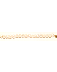 Freshwater Pearl Bracelet Base with gold accent
