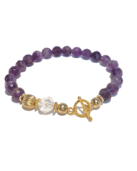 Classic Clasp Amethyst Gold