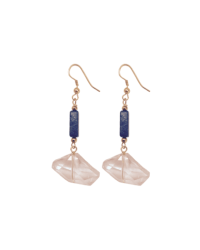 Geo-Crystal Lapis Earrings