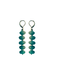 soft green earrings