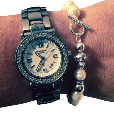 Classic Pearl Bracelet and watch