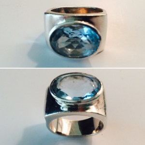 blue topaz ring from France