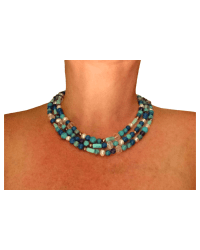 Long Classic Turquoise Blue necklace final