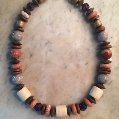 Muscle Shoals Stone Revival Necklace on marble