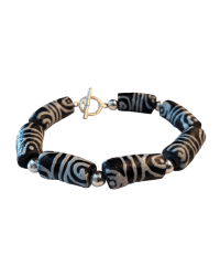 Tookey Speaks B&W Beaded Bracelet