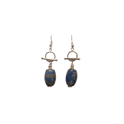 Lapis Nugget / Sterling Silver (Earrings)
