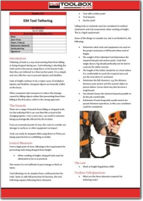 tool tethering toolbox talk