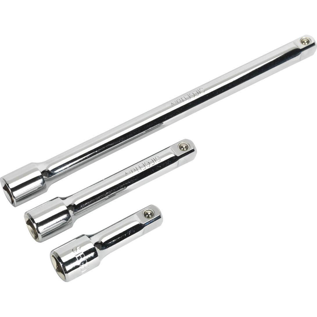 Siegen 3 Piece 1 2 Drive Socket Extension Bar Set