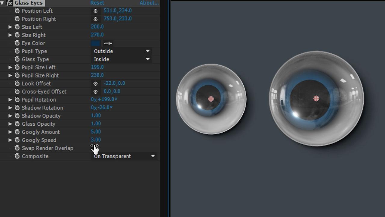 Freebie: Video Copilot Glass Eyes