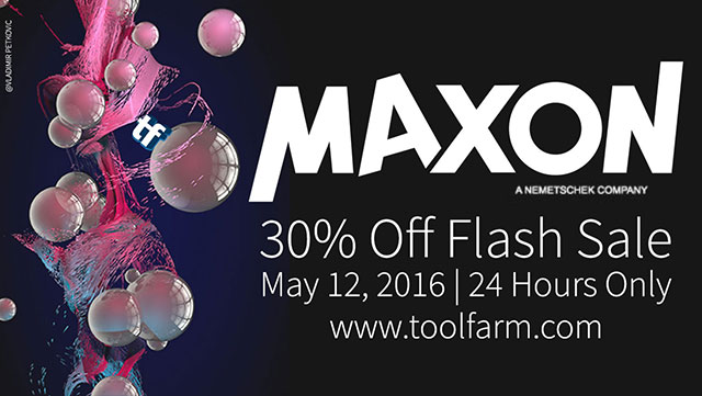 Sale: MAXON 30% Off Flash Sale