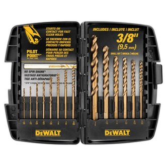 DEWALT DW1263 14-Piece Cobalt Pilot Point Drill Bit Set