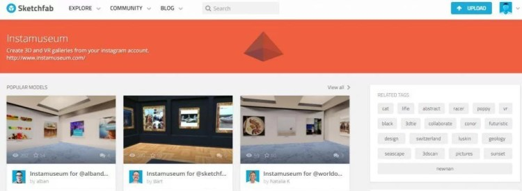museo virtuale da foto Instagram