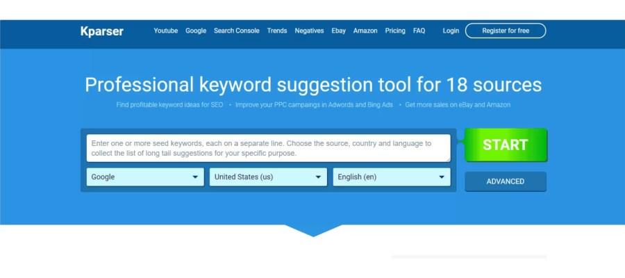 kparser scegliere keywword