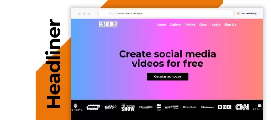 Headliner creare video per social