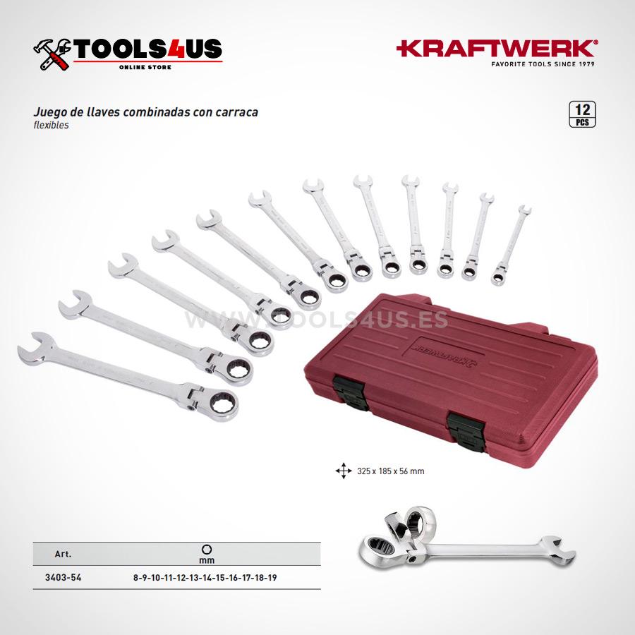 3403 54 estuche herramientas juego llaves combinadas carraca flexible 01 - Estuche Juego de 12 Llaves combinadas Carraca Flexible