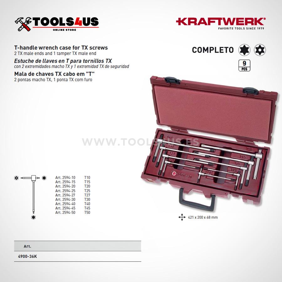 4900 36K KRAFTWERK estuche completo llaves en T Torx 02 - Estuche Llaves en T Torx