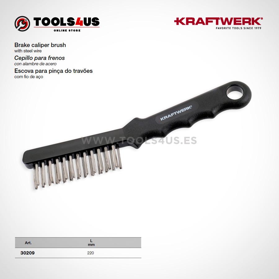 30209 KRAFTWERK herramientas taller barcelona Cepillo de Acero para limpieza de frenos 01 - Cepillo de Acero para limpieza de frenos