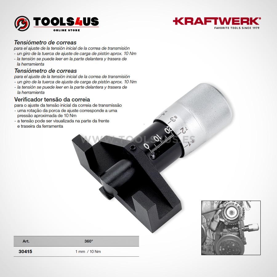 30415 KRAFTWERK herramientas taller barcelona espana Tensiometro tensor correas distribucion 02 - Tensiómetro de correas