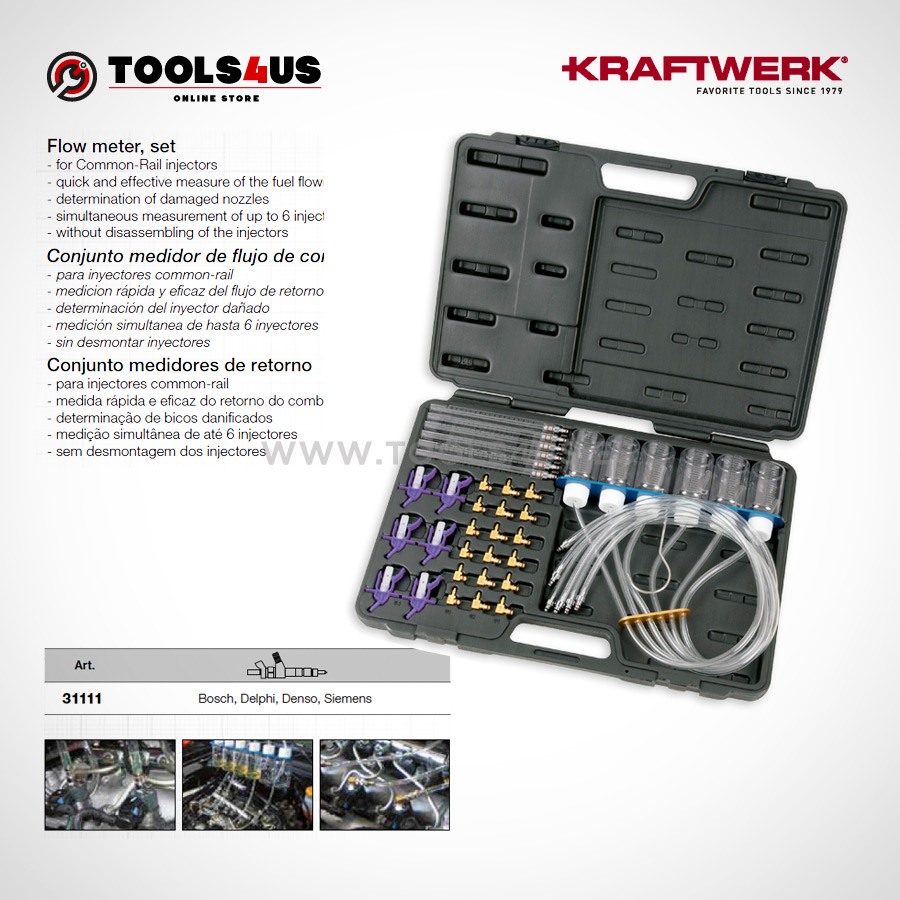 31111 KRAFTWERK herramientas taller barcelona espana Conjunto medidor flujo Common Rail 01 - Conjunto medidor de flujo de Common Rail