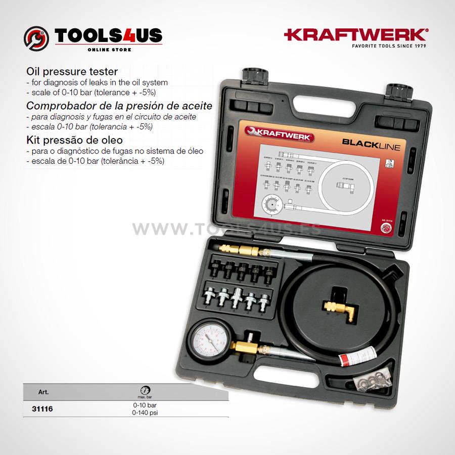 31116 KRAFTWERK herramientas taller barcelona espana Comprobador presion aceite 01 - Comprobador de la presión de aceite