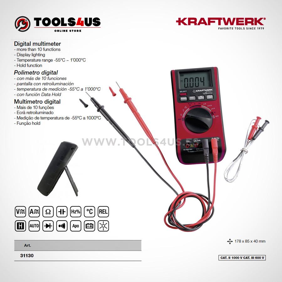 31130 KRAFTWERK herramientas taller barcelona espana Polimetro Multimetro digital de calidad 02 - Multímetro / Polímetro digital