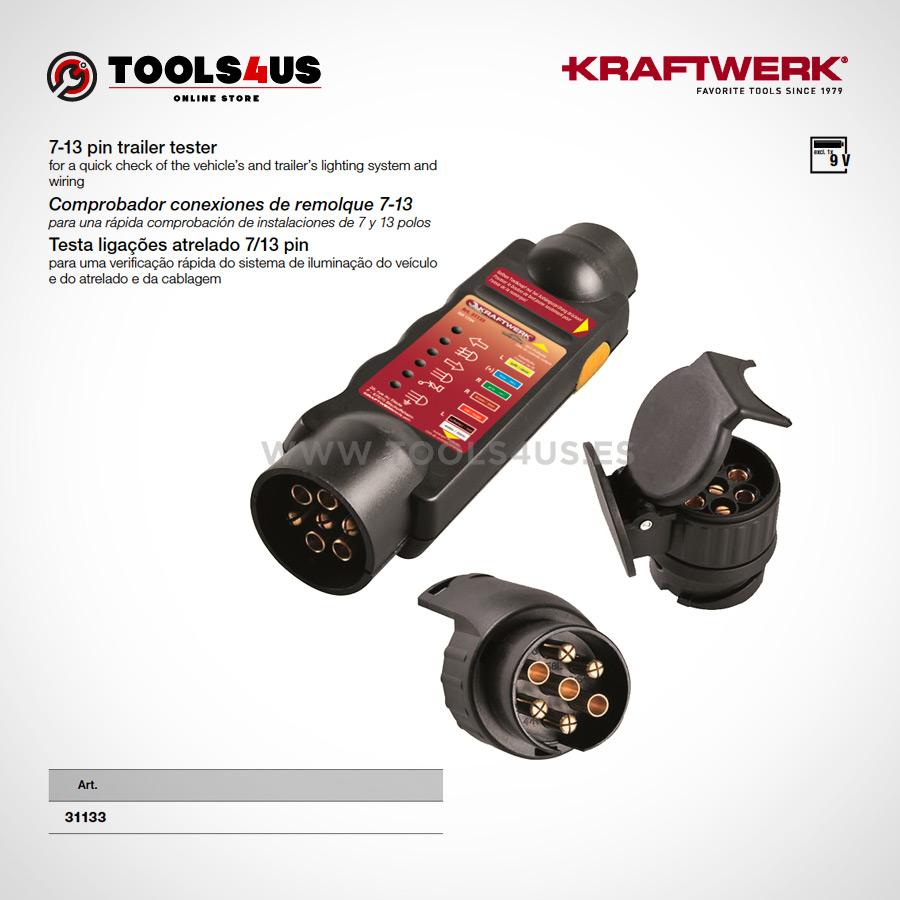 31133 KRAFTWERK herramientas taller barcelona espana Comprobador conexiones remolque7 13 01 - Comprobador conexiones de remolque 7-13