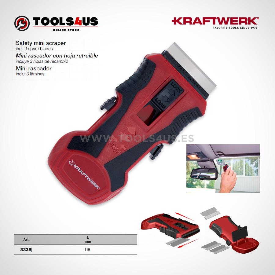 3338 KRAFTWERK herramientas taller barcelona espana Mini rascador hoja retraible 01 - Mini rascador con hoja retraible