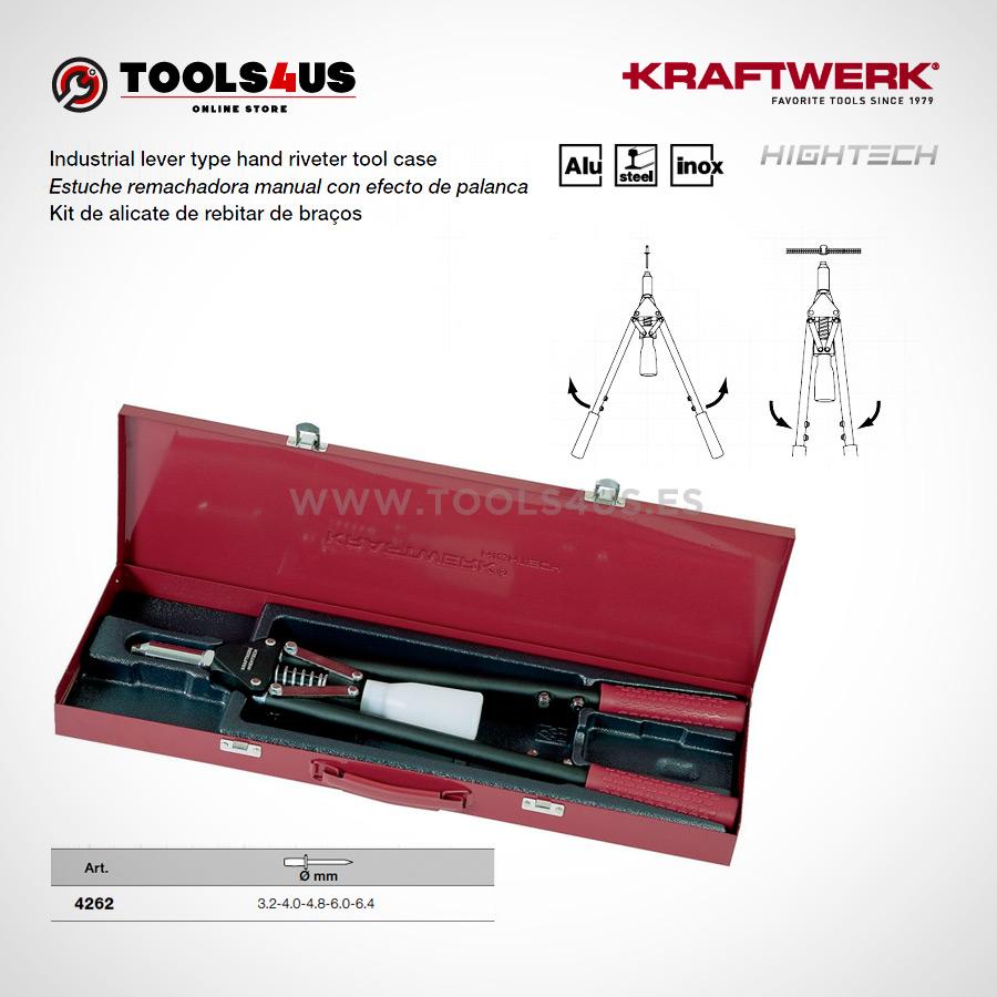 4262 KRAFTWERK herramientas taller barcelona espana Estuche remachadora manual industrial efecto palanca 02 - Estuche remachadora manual con efecto de palanca