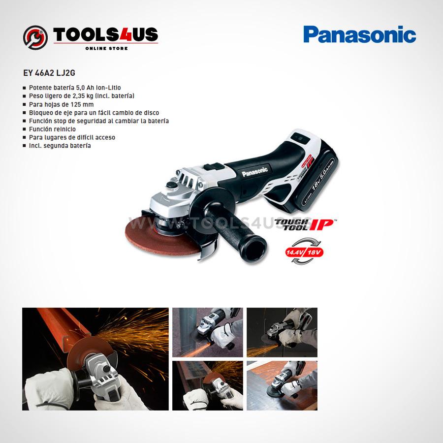 EY46A2LJ2G PANASONIC amoladora radial moladora inhalambrica herramientas profesionales barcelona 03 - Amoladora / Radial de ángulo Panasonic EY46A2LJ2G