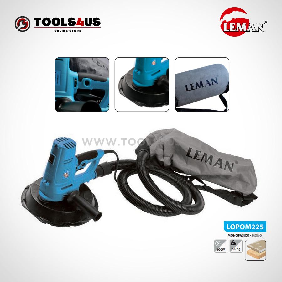 LOPOM225 Lijadora de Superficie 225mm 200W Leman 02 - Lijadora de Superficies 225mm 200W Leman LOPOM225
