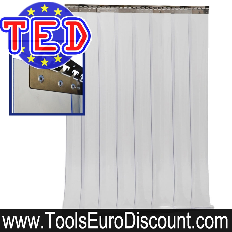 rideau a lanieres pvc complet coupe froid 1200 x 2500 mm
