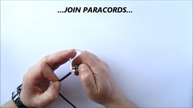 Melt the ends of the paracords with a lighter