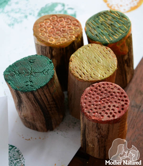DIY Wooden Texture Stamps