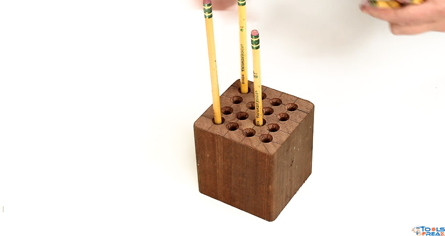 Drill Press Pencil Holder