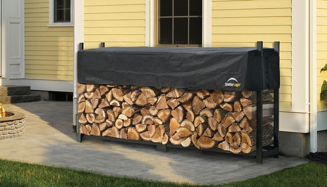 Firewood Rack with Shed to Protect from the Rain