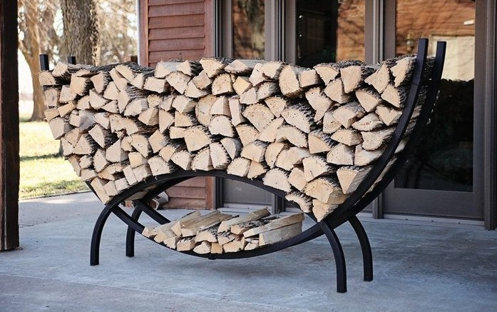 Round Firewood Rack for Firewood and Kindling