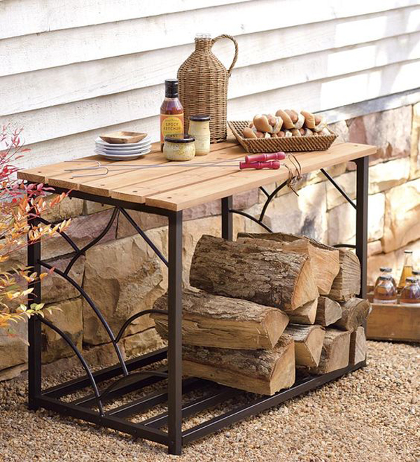 traditional-patio-decor-excellent-under-table-log-firewood-storage-brown-coated-iron-table-frame-finish-finished-maple-wood-table-top-rattan-storage-tray-1