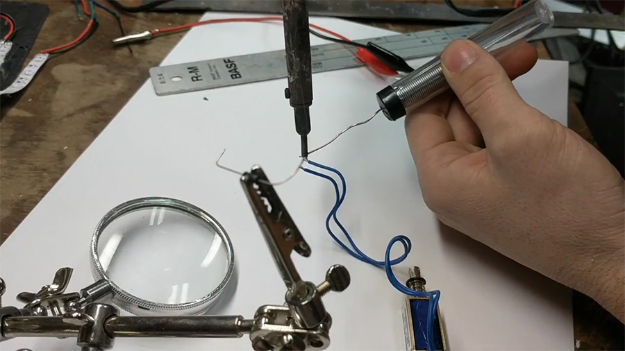 how to solder wire a diode