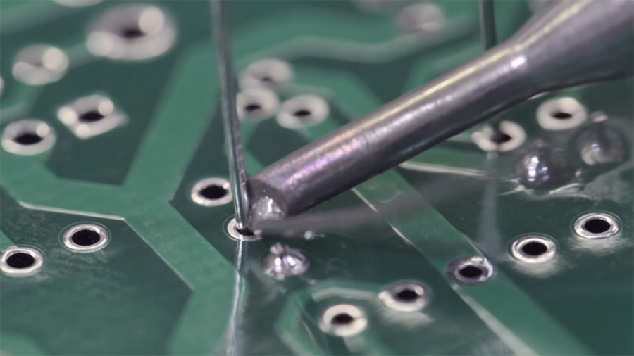 how to solder wire to pcb