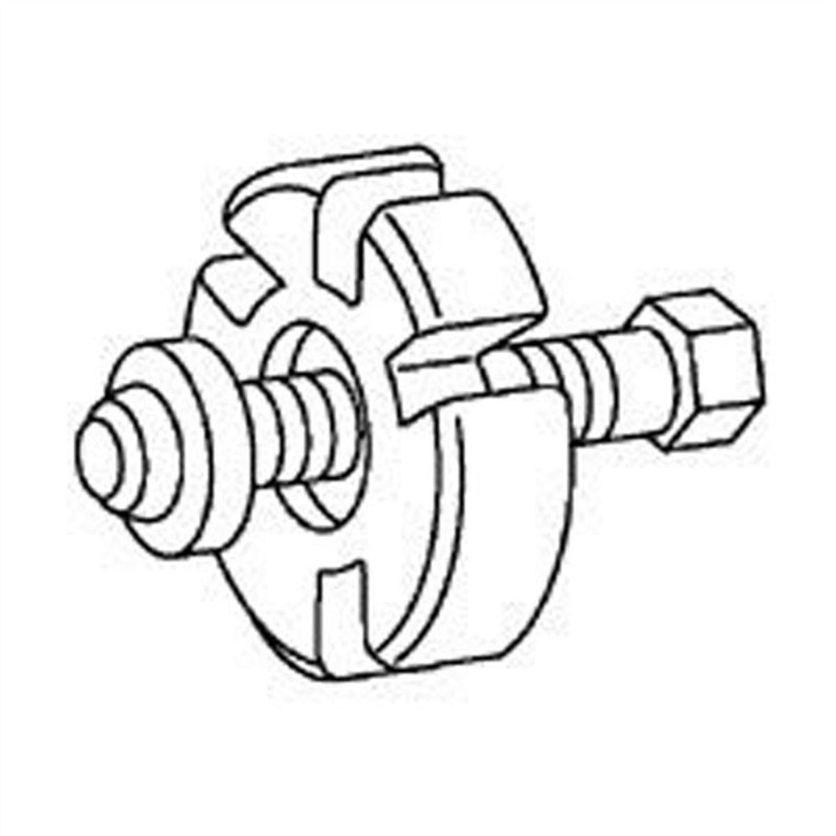 Crankshaft Vibration Damper Remover T58p D