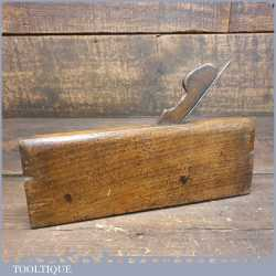 """Antique D. Malloch of Perth 3/8"""" Side Bead Beechwood Moulding Plane"""