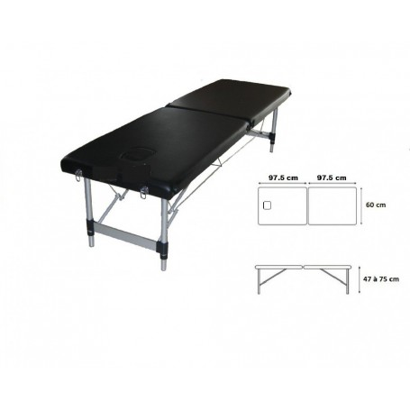 table d osteopathie portable aluminium toomed