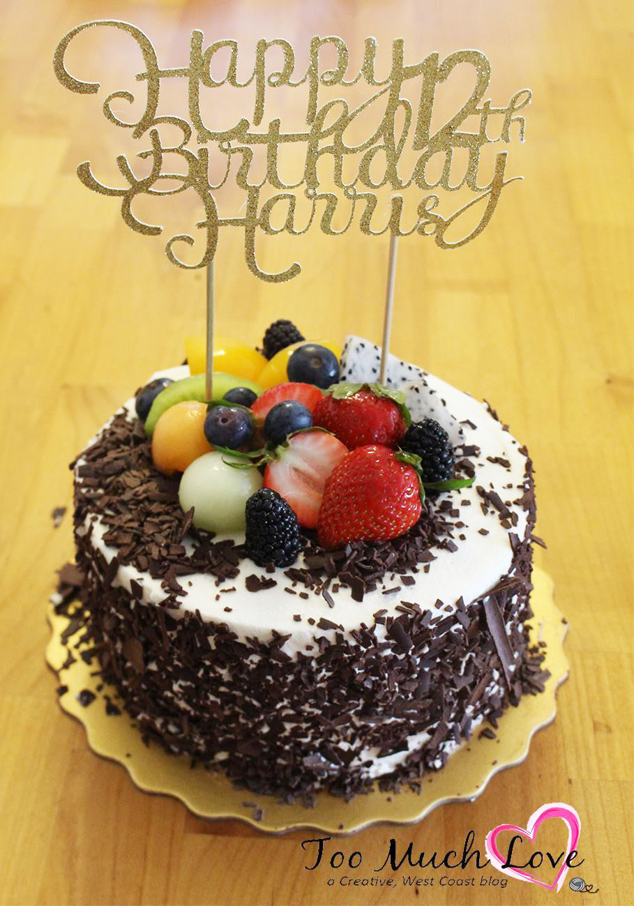 Amazing How To Make A Cake Topper Using Your Cricut Too Much Love Birthday Cards Printable Giouspongecafe Filternl