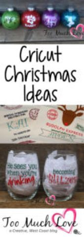 Cricut Christmas Ideas Great Holiday Projects And Gifts Too Much Love