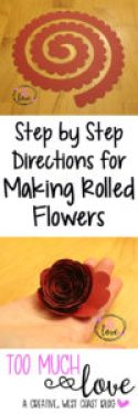 How to make easy rolled paper flowers too much love easy rolled paper flowers mightylinksfo