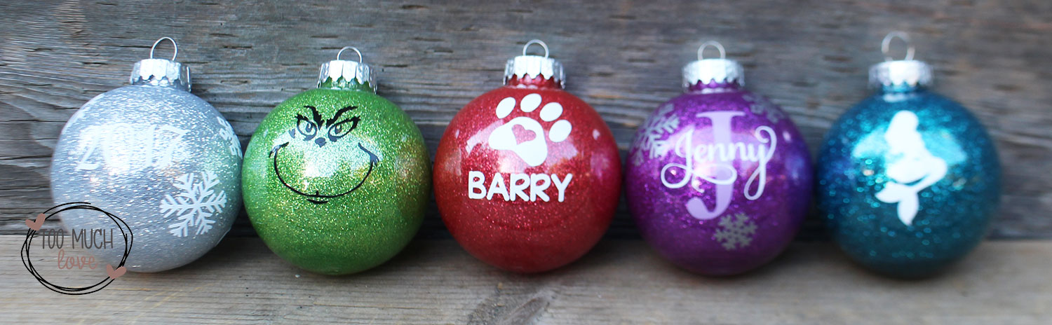 How To Easily Make Those Glitter Ornaments Too Much Love