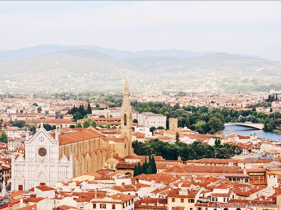 Santa Croce and the Arno from the Arnolfo Tower