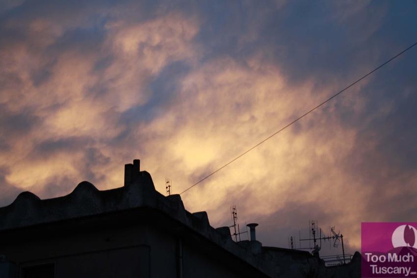 Sunset in Vico del Gargano